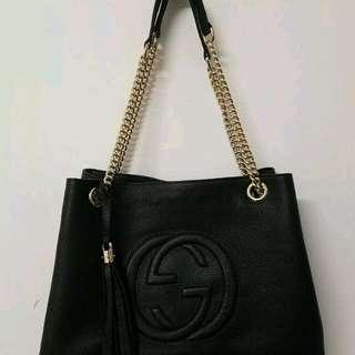Genuine GUCCI Soho  Chain Shoulder Bag.