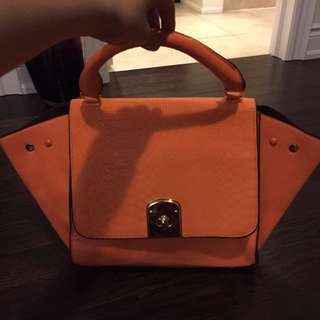 Celine Inspired Orange Purse