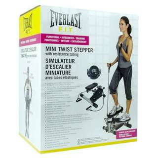 Everlast Mini Twist Steppers with Resistance Tubing - new in box - never used