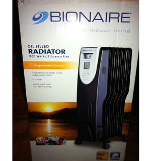 Bionaire 1500w Oil-Filled Heater - NEW IN BOX
