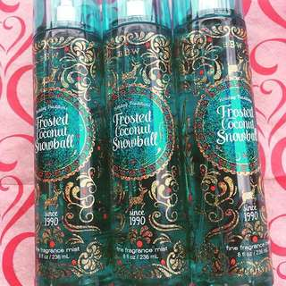 BBW FROSTED COCONUT SNOWBALL MIST