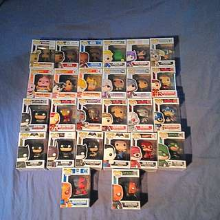 25 Pop Vinyls Individually Sold