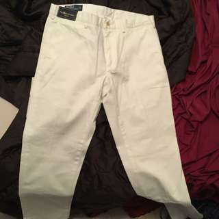 White Polo Pants