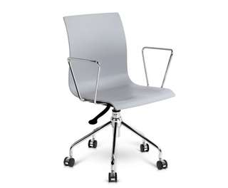 Modern Office Chair with Armrests Grey