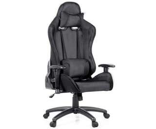 PU Leather & Mesh Reclining Office Desk Gaming Executive Chair - Black