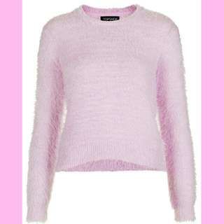 Pink Topshop Fuzzy Sweater