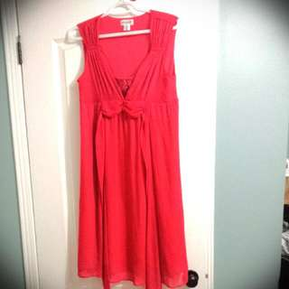 Red MOTHERHOOD maternity Dress Made In INDIA!