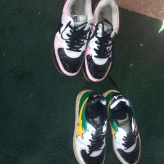 2 size 10 Bape shoes