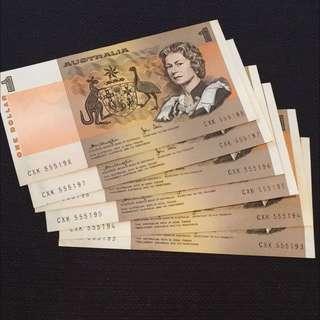 1976 $1 of Australia Banknote