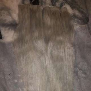 Silver/Grey Human Hair Extensions