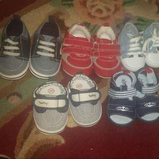 Baby Shoes  0 To 3 And 0 To 6 Its All Brand New  My 6 Month Son Doesnt Like To Wear Shoes  Thats Y Im Selling Its Newwwwwww Smoke Free Pet Free Home