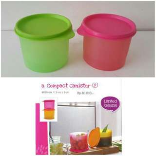 Compact Canister Tupperware