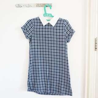 Checkered Kemeja Dress
