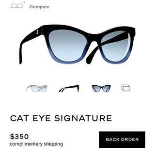 Chanel - Signature Cat Eye Sunglasses
