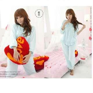 保暖點點日系性感薄紗式可愛睡衣-S651