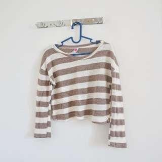 Crop Top Sweater Rajut Korea