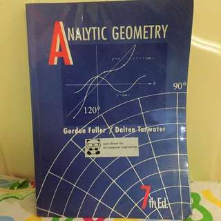 Analytic Geometry By G. Fuller & D. Tarwater
