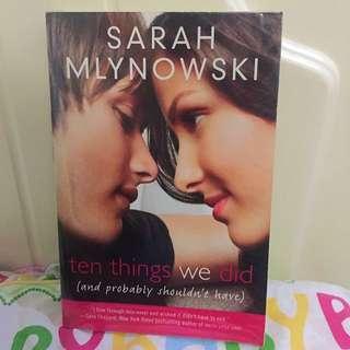 Ten Things We Did By S. Mlynowski