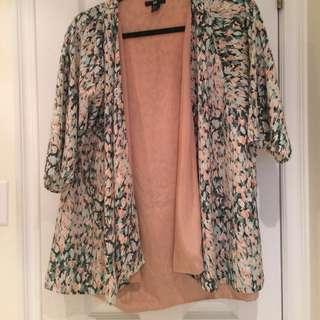 Silky Peach Watercolor Kimono