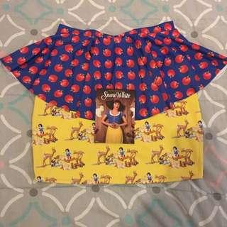 Black Milk Clothing Snow White Peplum Skirt + Postcard