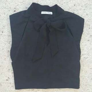 Zara bow neck crop