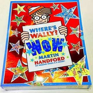BRAND NEW Where's Wally Gift Set - 6 books + 1 jigsaw puzzle Collection