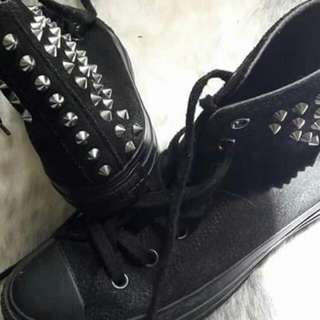 converse studded high top sneakers