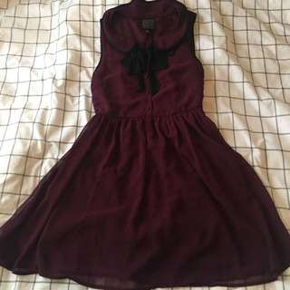 Burgundy Ask Alice Brand Dress