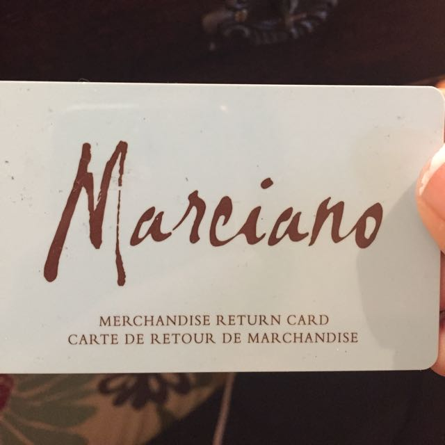 $163 Gift Card To Marciano