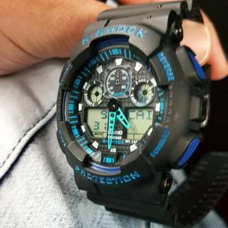 G-shock Black/Blue . No Container