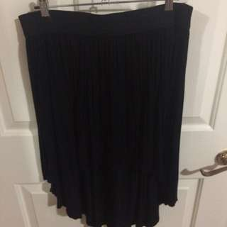 Hi-Lo Black Flows Skirt