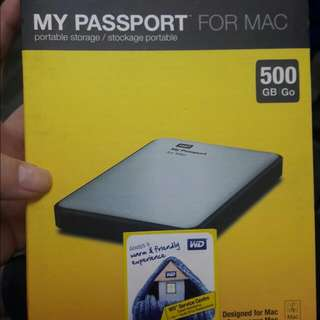 WD EXTERNAL HDD 500GB FOR MAC