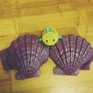 Ariel Inspired Sea Shell Bra