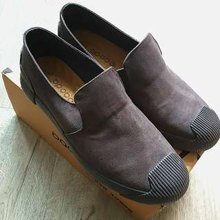 Suade Look Shoe With Rubber Sole