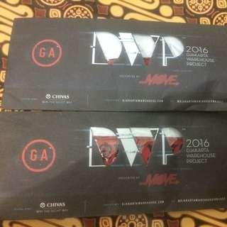 DWP GA 2 DAY'S. 2 TICKET