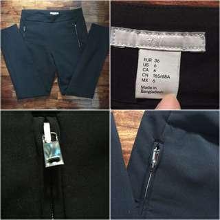 H&M Black Zip-pocket Pants