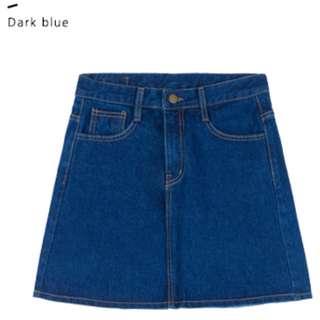 Denim A-Line Skirt (2 Colours)*