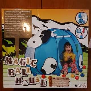 BNIB Magic Ball House by Wonder Castle (Cow Design)