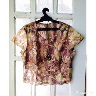 Floral Laced Blouse