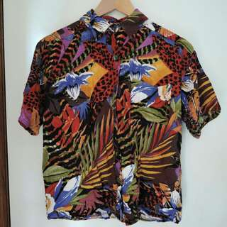 Vintage Tropical Buttom Up Shirt