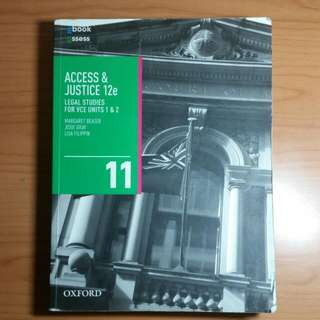 VCE UNITS 1&2 - Access & Justice 12e Legal Studies