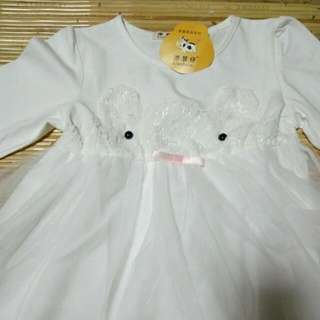 BN White Baby Girl Dress *PRICE REDUCED*