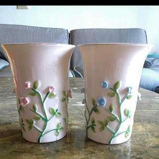 (出清可議價)日本直購立體雕花瓷杯組