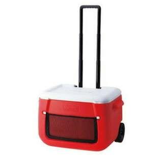 Coleman  美國  47L 拖輪置物型冰桶(紅) _CM-0014JM000
