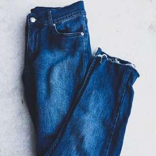 Cheap Monday frayed hem jeans