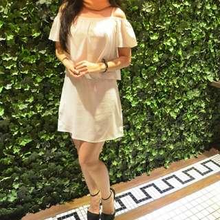 White Off Shoulder Mini Dress