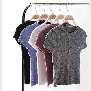 AA Style 灰色針織T恤