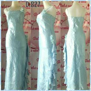 Gaun/Dress Biru Import