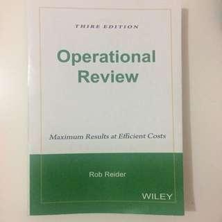 Operational Review Wiley Rob Reider