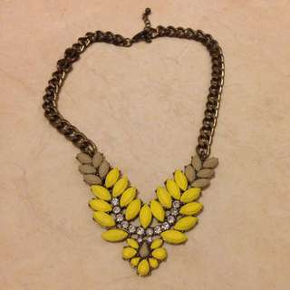 Yelow Beads Necklace
